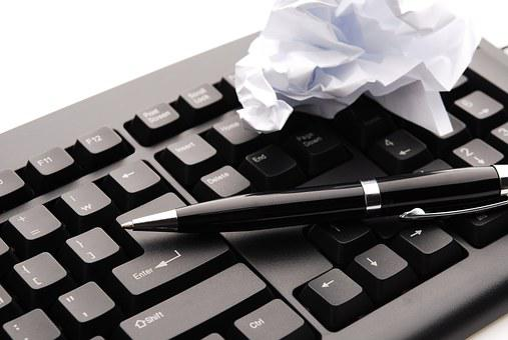 キーボード, ペン, 計画, 成功, 失敗, オンライン, コンピューター