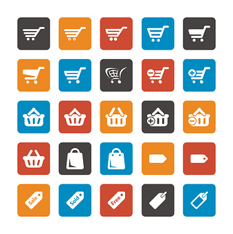 Iconset, Icon, Cart, Add To Cart, Set