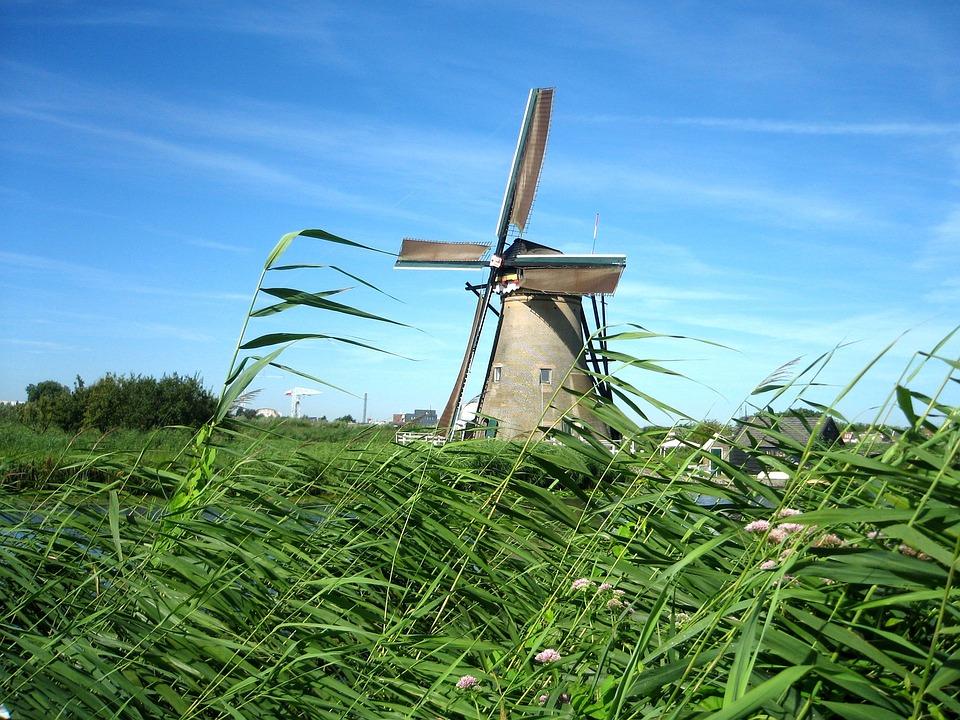 Gratis foto: Windmolen, Nederland, Kanaal - Gratis ...