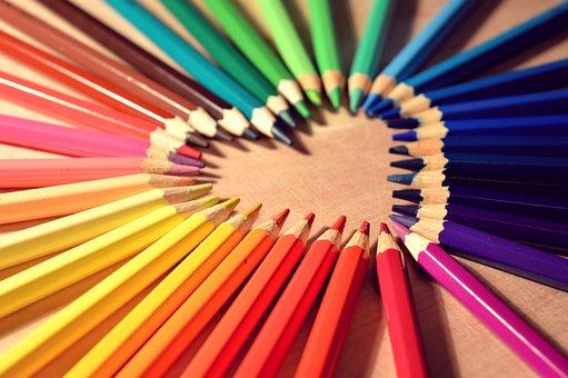 Farveblyanter, Hjerte, Kærlighed, Kunst
