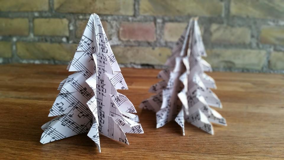 Origami Christbaumschmuck Papier Kostenloses Foto Auf Pixabay