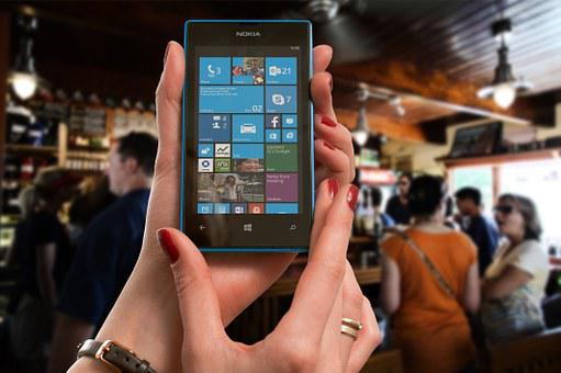 Nokia, Lumia, Microsoft, Woman, Bar