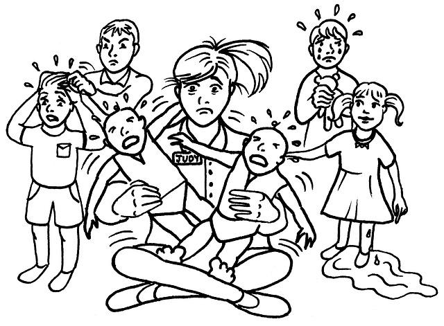 Kostenlose Illustration Kind Erzieherin Schreiende Babys
