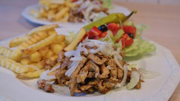 Gyros Eat Greek Eat Tzatziki Olive Peppero