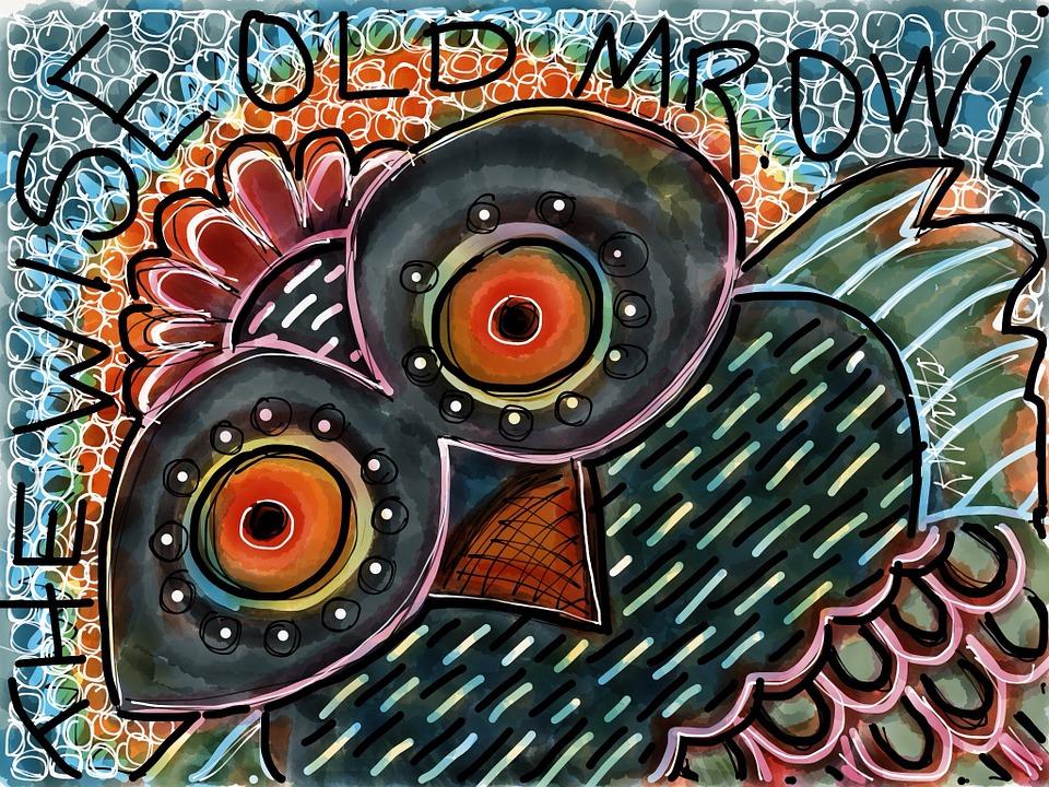 Owl Art Animal Free Image On Pixabay