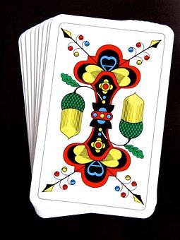 Ace, Acorn, Cards, Jass Cards, Card Game