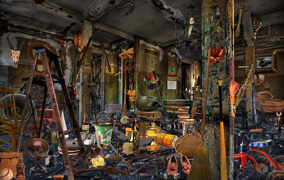 Caos, Habitación, Desordenada, Sucio, Desordenado, Lío