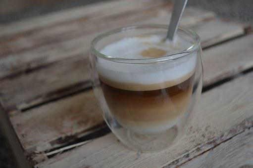 Coffee, Cappuccino, Double, Bodum, Glass