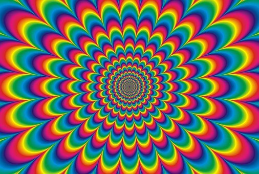 Psychedelic, Colours, Vibrant, Rainbow