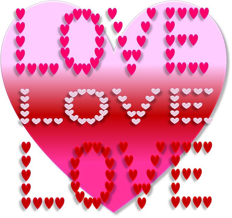 Love, Valentine, Day, Heart, Pink, Red, Magenta, Symbol