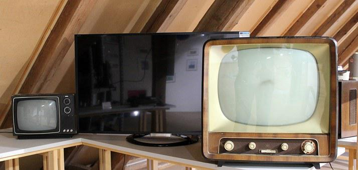 Tv, Retro, Household Appliances, Old