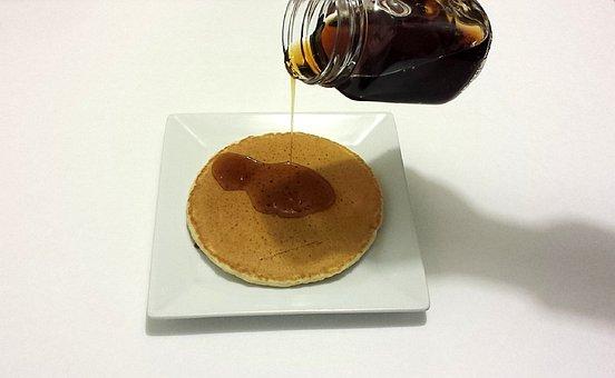 Pancake, Honey, Breakfast, Food, Meal