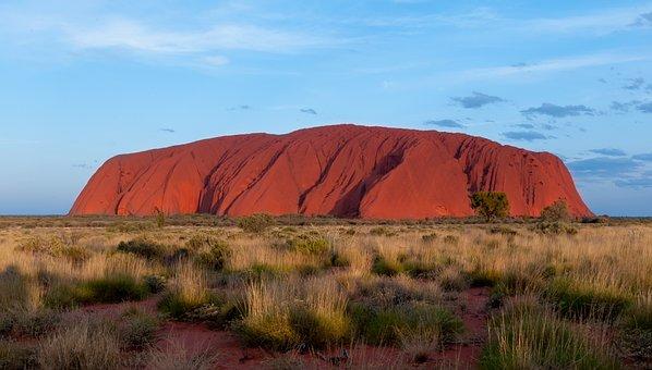 オーストラリア, ウルル, エアーズ ロック, 山, 自然, ハイキング, 風景