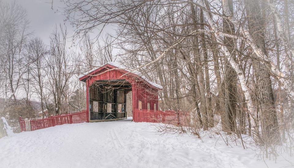 Covered Bridge Winter Vermont · Free photo on Pixabay