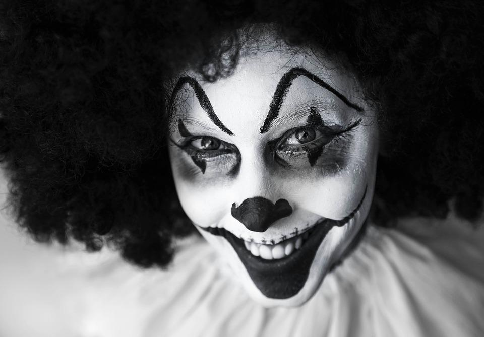 Clown, Gruselig, Grinsend, Schmink