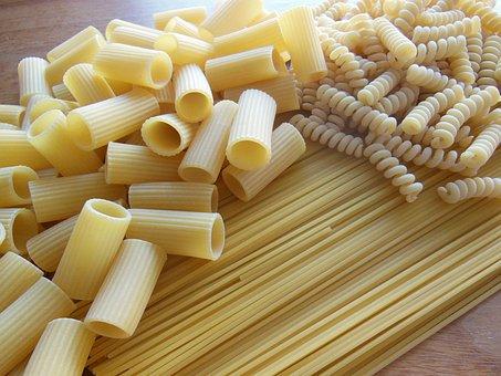 Noodles, Spaghetti, Fussili, Penne
