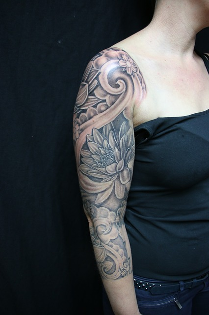 free photo tattoo flower sleeve olst free image on