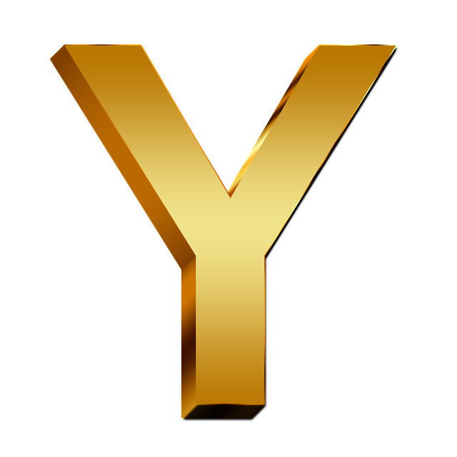 y letter in gold - photo #24
