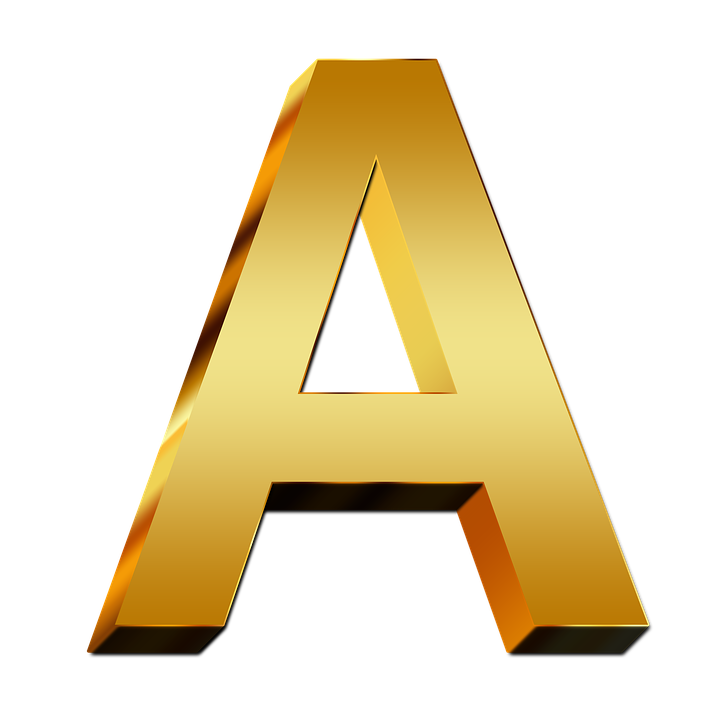 letters abc education gold golden gloss alphabet