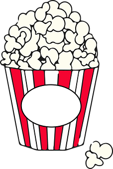 Popcorn Food Cinema Corn Red Movies F