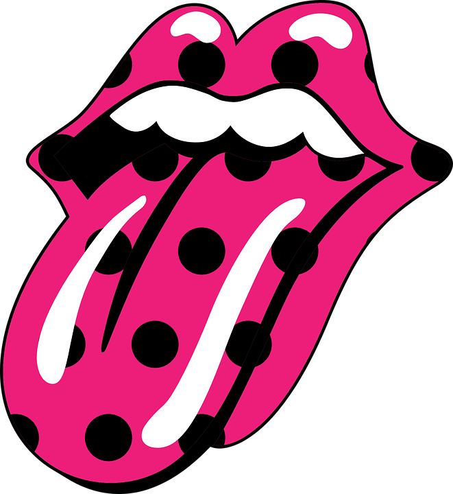 free vector graphic: fuchsia, mouth, the rolling stones - free