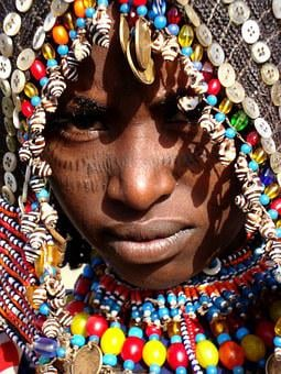 Africa, African Face, Afar Tribe