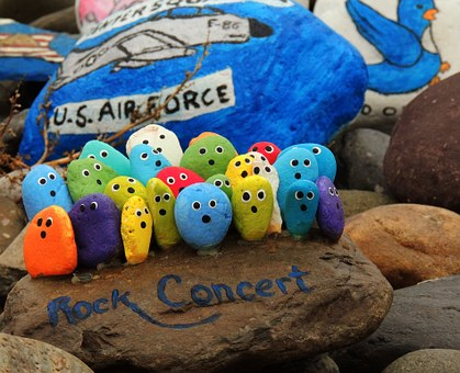 Rocks Rock Concert Painted Rocks Paint Fun