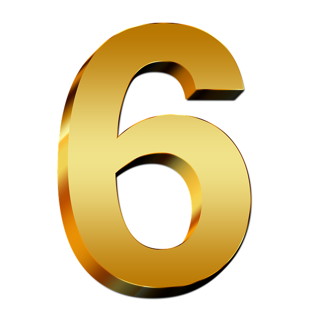 Free Illustration  Pay  Gold  Six  Number  Digit  3d