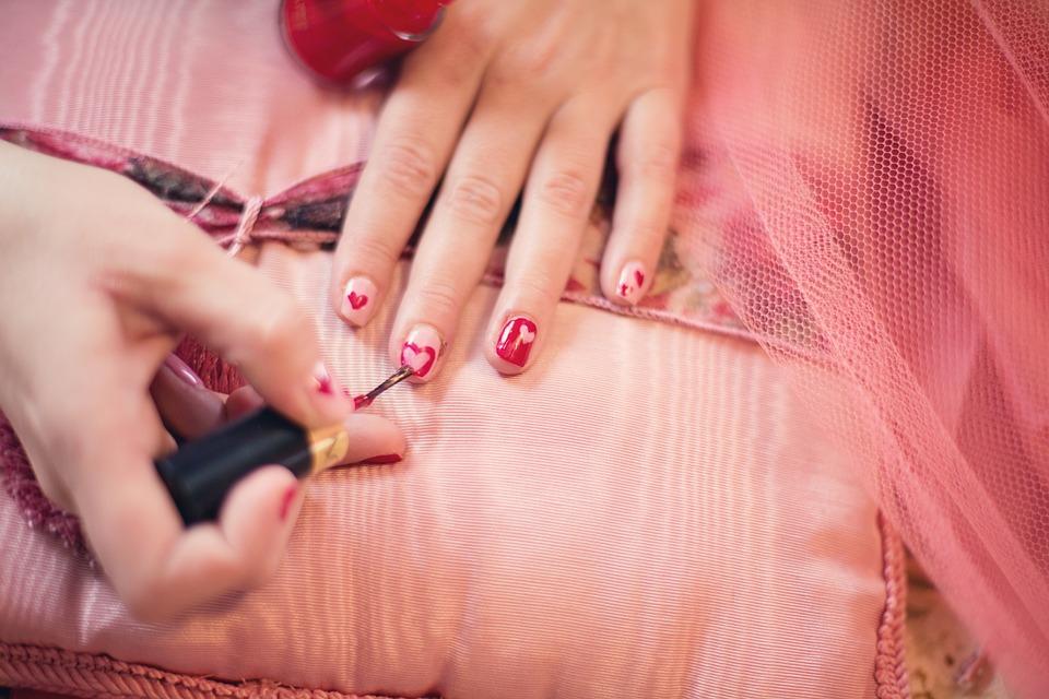 Unghie Pittura, Smalto Per Unghie, Cuori, San Valentino