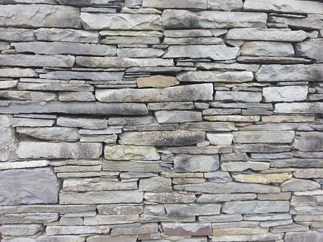 Flagstone, Wall, Stone, Back, Pattern