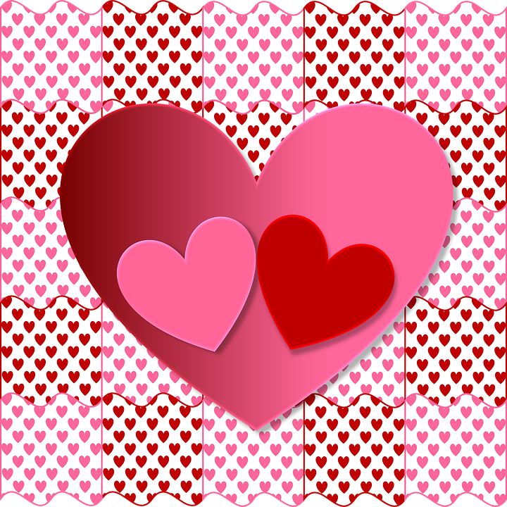 Valentine Heart Love Red Pink Romantic Wallpaper