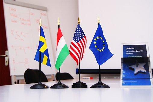 国際, フラグ, 会社, 企業のグループ, 多国籍企業, グローバル