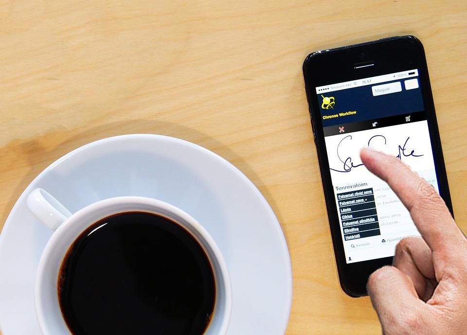 Káve, Oficina, Trabajo, Iphone, Comunicación, Móvil