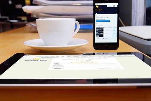 Káve, Kantor, Pekerjaan, Iphone