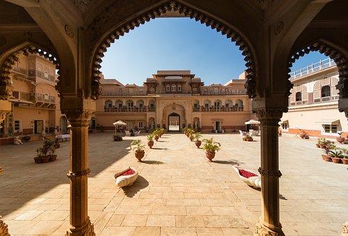 Architecture, Chomu-Palace, Rajasthan