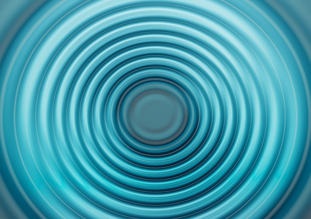 Free illustration: Wave, Turquoise, Blue, Concentric ...