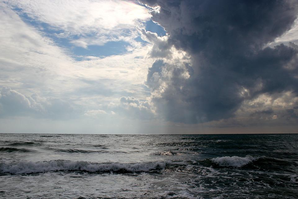 Foto gratis mare tempesta cielo di nuvole immagine