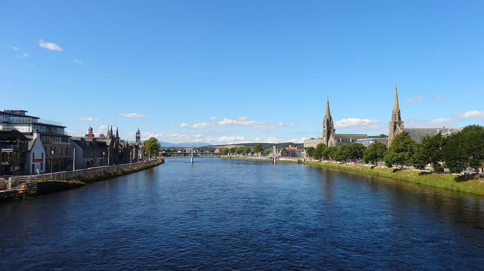 Inverness, City, River, Town