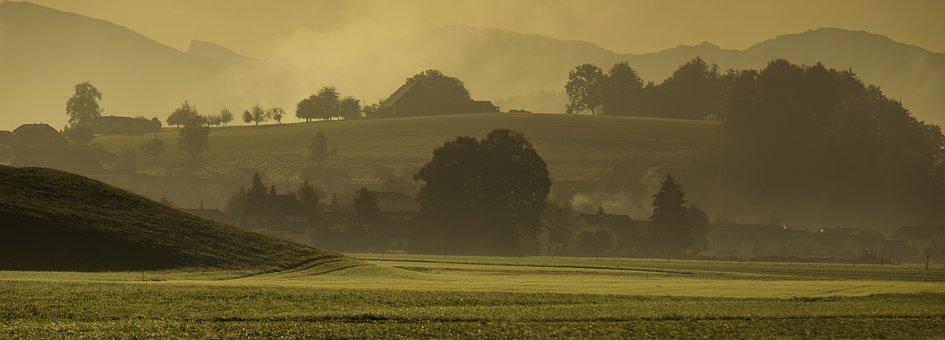 Landscape, Autumn, Morgenstimmung, Haze