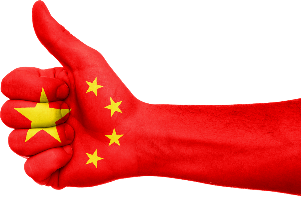 Free Illustration China Flag Hand Thumbs Up Free