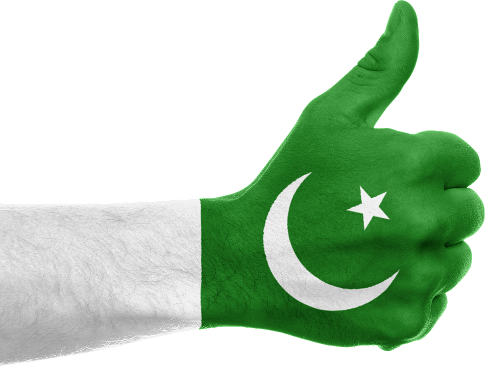 pakistan flag hand thumbs free image on pixabay