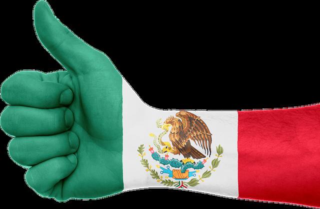 free illustration mexico flag hand national pride