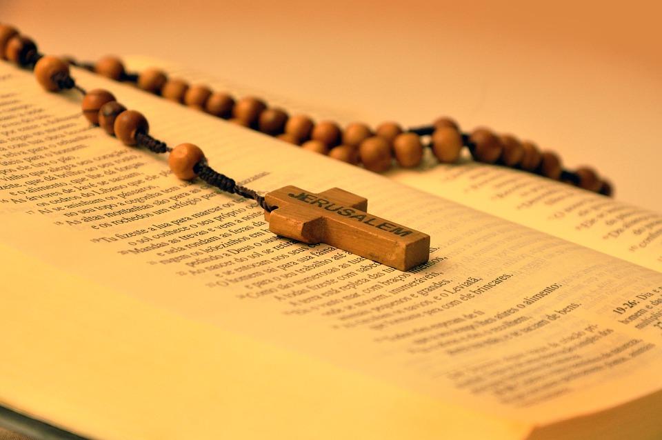 Bible, Rosaire, Troisième, Cruz, Jésus