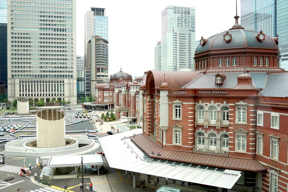 東京駅, 東京, 駅, 日本, 鉄道の駅, レンガ, 建物, 都会, ビジネス, 街, アンティーク, 観光