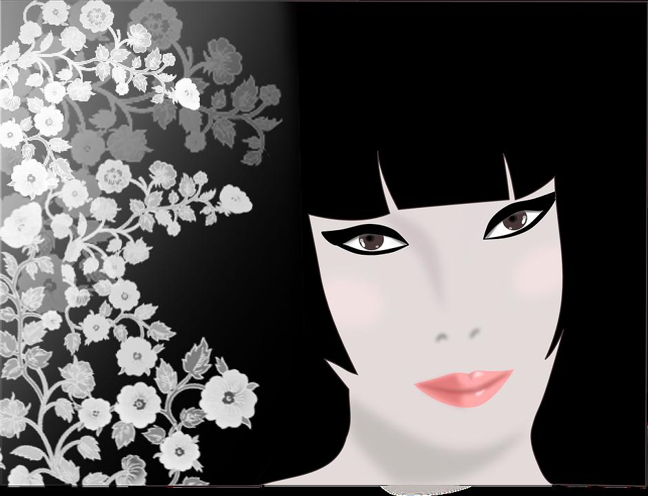 Mujeres Flores Línea De Visión Gráficos Vectoriales Gratis En Pixabay