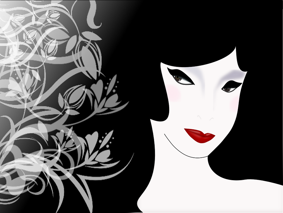 women black white flowers thine eyes line of sight - Black And White Flowers