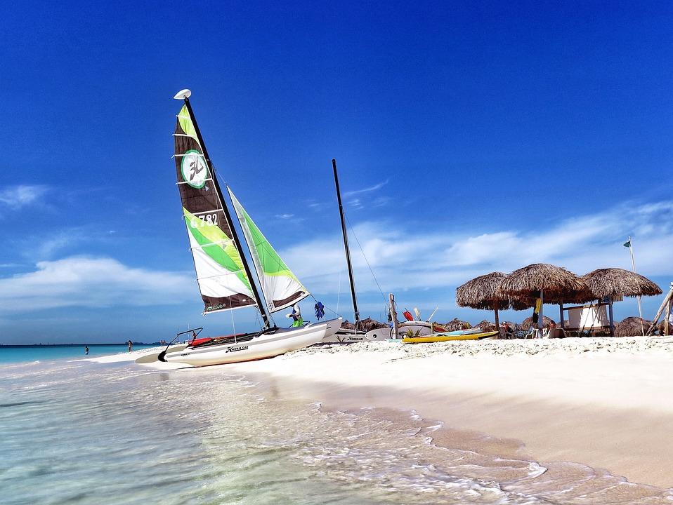 Пляж, Воды, Океан, Побережье, Песок, Туризм, Катамаран