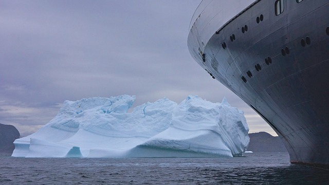 free photo  iceberg  ship  ice  travel  water
