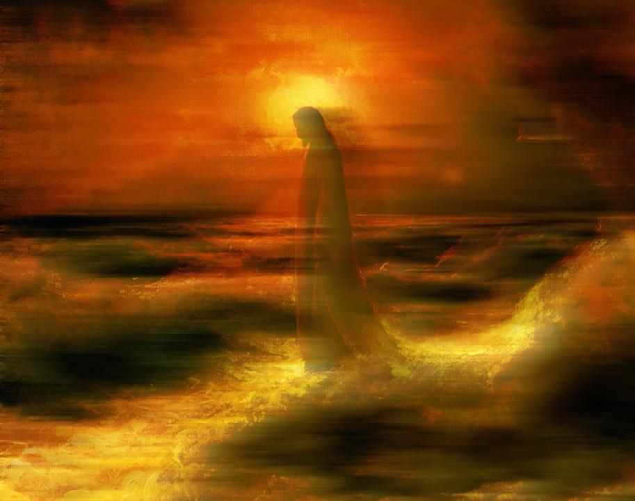 Jesus, Christ, Water, God, Parousia, Walk