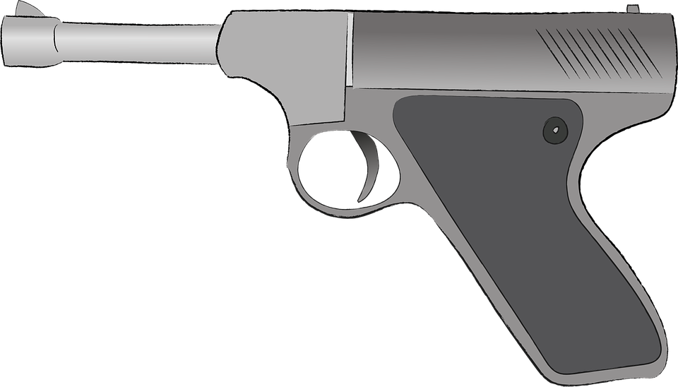 Image Vectorielle Gratuite: Armes, Pistolet, Dessin Animé